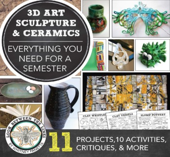 Introduction to Sculpture and Ceramics: A Semester Long Curriculum, MS or HS