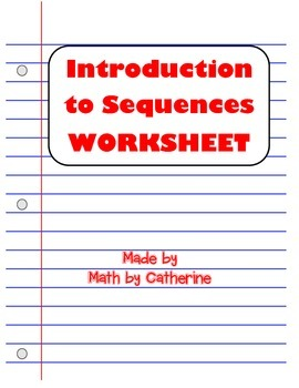 Introduction to Sequences Worksheet