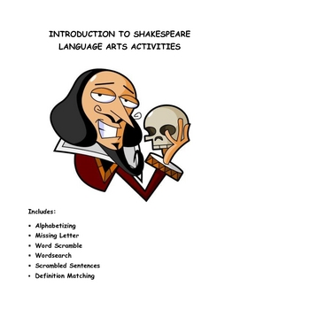 Introduction to Shakespeare Language Arts Activities