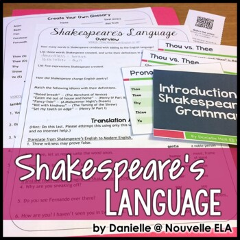 Introduction to Shakespeare's Language Webquest and Presentation