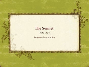 Introduction to Shakespeare's Sonnets