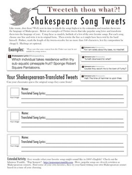 pictures shakespeare language worksheet roostanama. Black Bedroom Furniture Sets. Home Design Ideas
