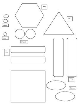 Introduction to Shape man 2D circle oval rectangle ESL cut
