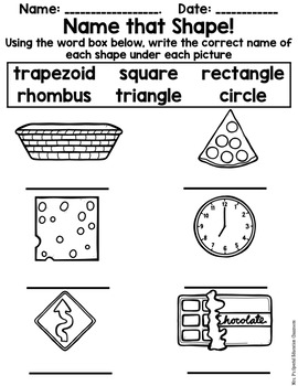 Introduction to Shapes Centers & Activities