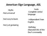 Introduction to Sign Language Club: Deaf Culture/Community