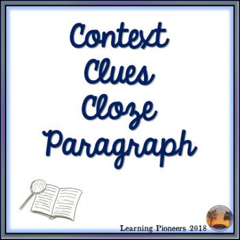 Introduction to Social Studies Context Clues Cloze Paragraph