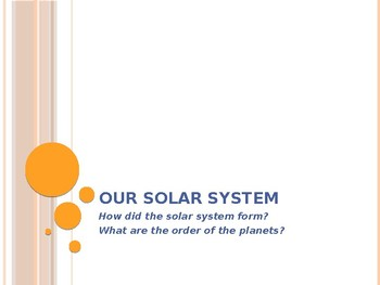 Introduction to Solar System Notes - Interactive Notebook
