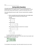 Introduction to Solving Matrix Equations with Inverses