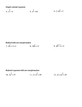 Introduction to Solving Radical Equations