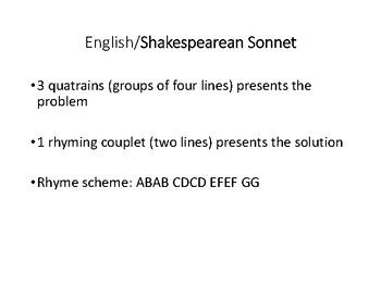 Introduction to Sonnet Form