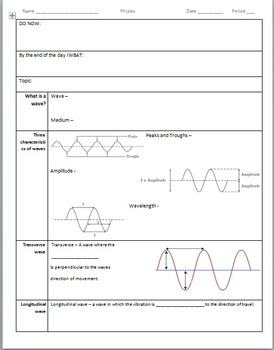 Physics, Introduction to Sound, Waves and the wavespeed equation