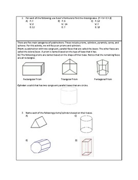 Introduction to Space Figures and Surface Area