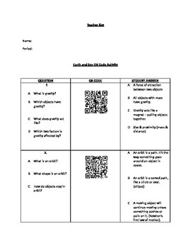 Introduction to Space QR Code Scavenger Hunt