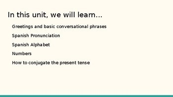 Introduction to Spanish PowerPoint