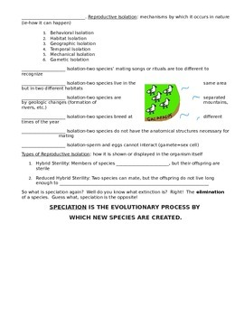 Introduction to Speciation Guided Notes