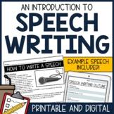 Introduction to Speech Writing: Text, Speech Outline, & Speech Writing Practice