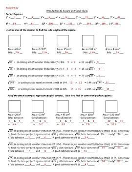 Introduction to Square and Cube Roots