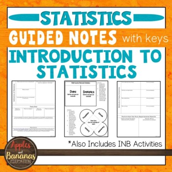 Introduction to Statistics-  Interactive Notebook Activities & Scaffolded Notes