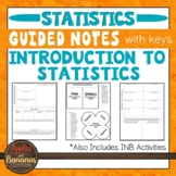 Introduction to Statistics -  Interactive Notebook Activities & Guided Notes