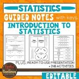 Introduction to Statistics -  Interactive Notebook Activit