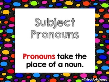 Introduction to Subject Pronouns Pack (PPT, Sort, Practice Sheet)
