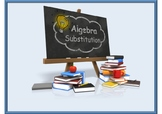 Introduction to Substitution animated PowerPoint + Worksheet