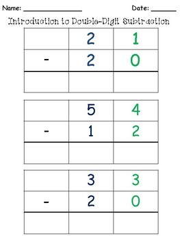 Introduction to Subtraction