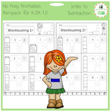 Introduction to Subtraction -- No Prep Mini-Pack for K.OA 1.0 & 5.0