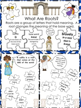 Introduction to Suffixes Lap Book- Greek Themed
