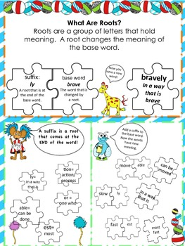 Introduction to Suffixes Lap Book- Silly World Themed