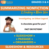 Introduction to Summarizing Informational Text (RI.4.2) PowerPoint & Resources