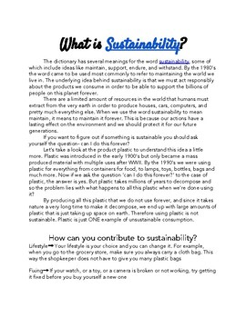 Introduction to Sustainability - Reading on Google Doc with Hyperlinks