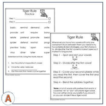 Syllable Types and Division Rules Introduction