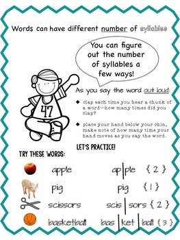 Intro to Syllables (Includes 6 types): Complements Orton-Gillingham
