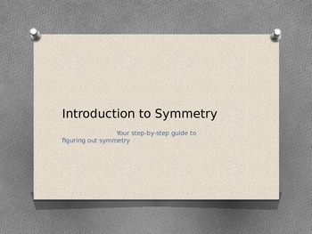 Introduction to Symmetry