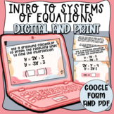 Introduction to Systems of Equations Task Cards (Digital a