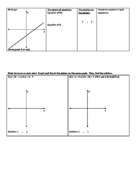 Introduction to Systems of Linear Equations Activity