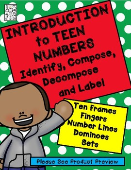 Introduction to TEEN NUMBERS-Compose, Decompose, Label, and Order Numbers 11-20