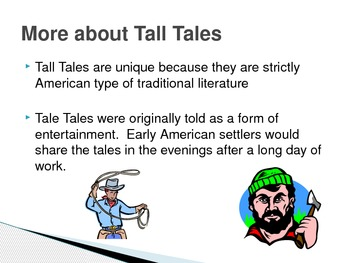 Introduction to Tall Tales PowerPoint Presentation and Question Card Exit Slips