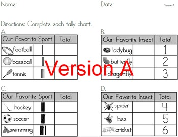 Introduction to Tally Charts, Differentiated