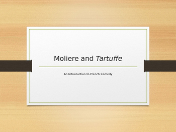 Introduction to Tartuffe