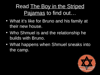 Introduction to The Boy in the Striped Pajamas Powerpoint Activity