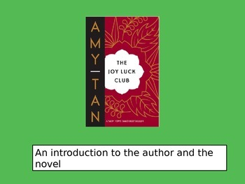 Introduction to The Joy Luck Club