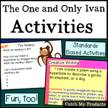 The One and Only Ivan Novel Study Activities for PROMETHEAN Board Use