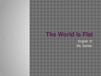 """Introduction to """"The World Is Flat"""""""