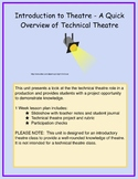 Introduction to Theatre - An Overview of Technical Theatre