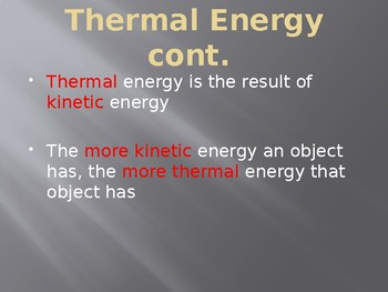 Introduction to Thermal Energy Transfer PowerPoint