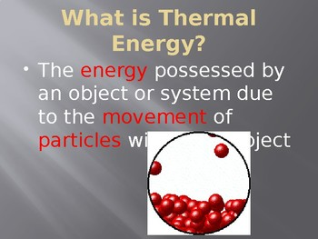 Introduction to Thermal Energy Transfer: PowerPoint