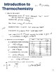 Introduction to Thermochemistry