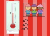 SMARTboard Introduction to Thermometers and Temperature